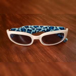 Coach Sadie White & Blue Sunglasses